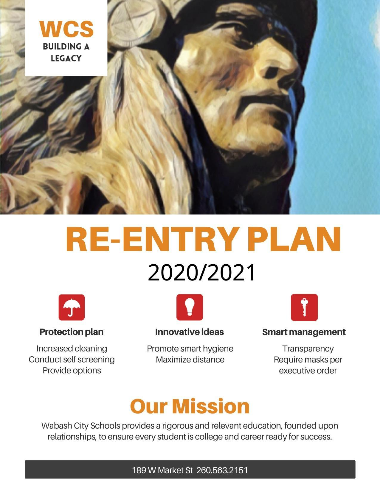 WCS Re-entry Plan page 1