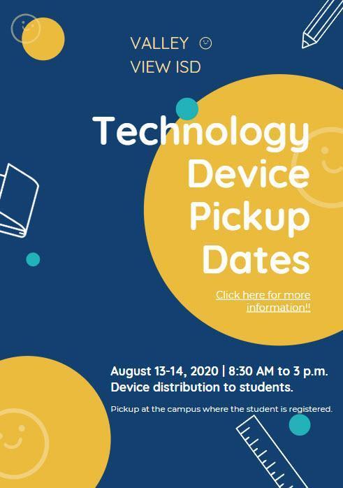 Technology Device Pickup Dates Thumbnail Image