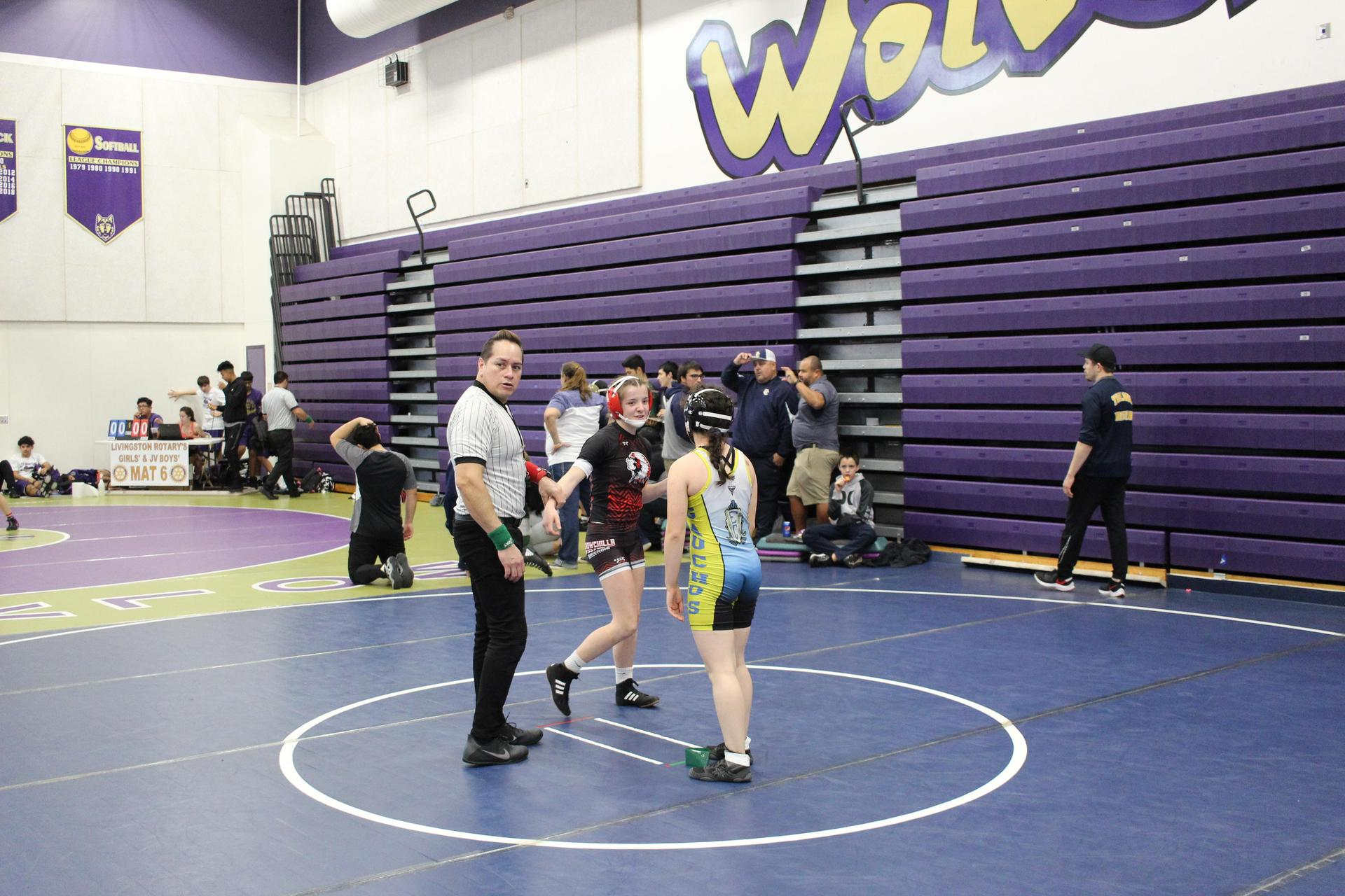 Hailey Pasley wrestling