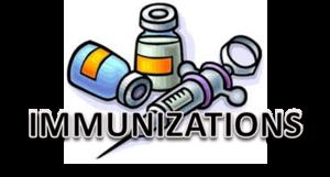 Immunizations Due By Jan. 8th.