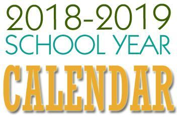 2018-2019 School calendar Featured Photo
