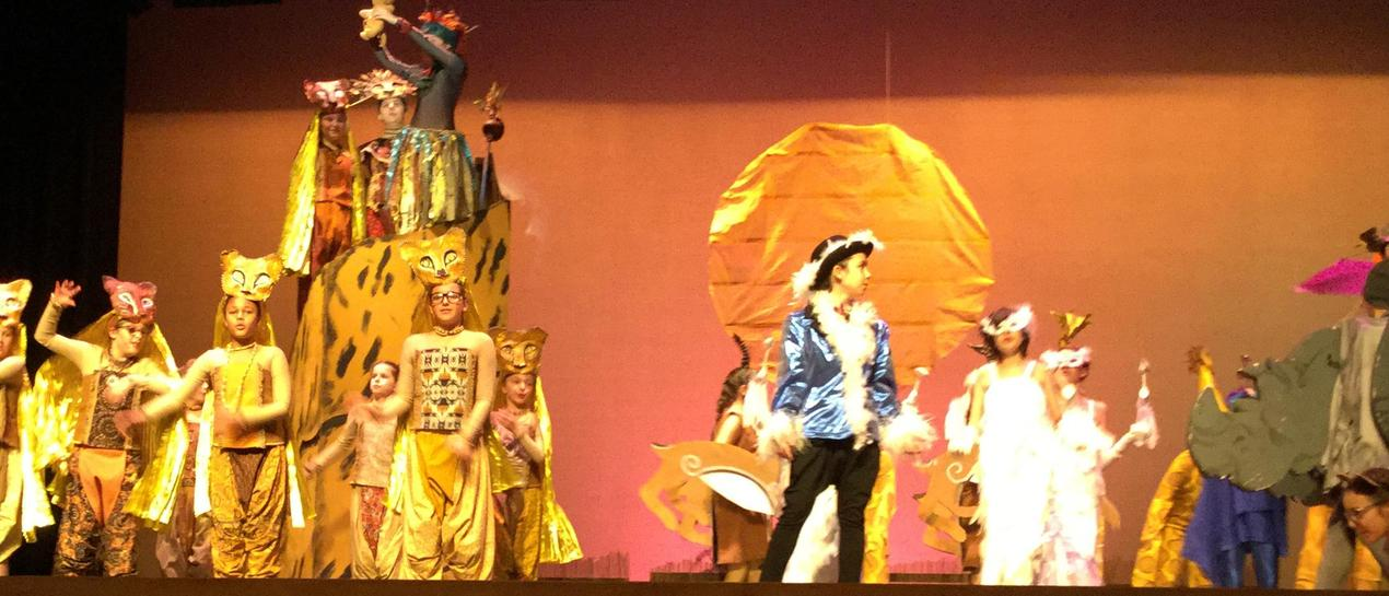 middle school students perform circle of life