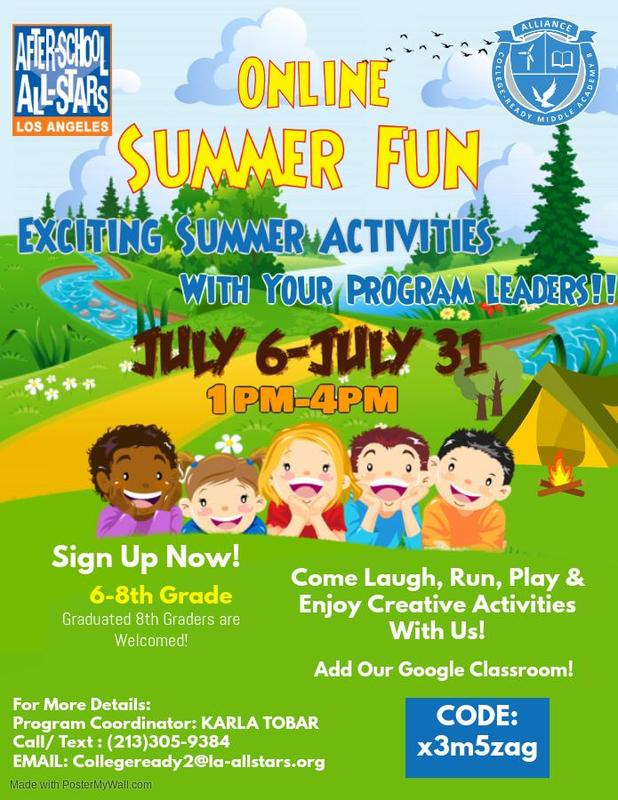 Sign up for Online Summer Fun with After-School All-Stars! Thumbnail Image