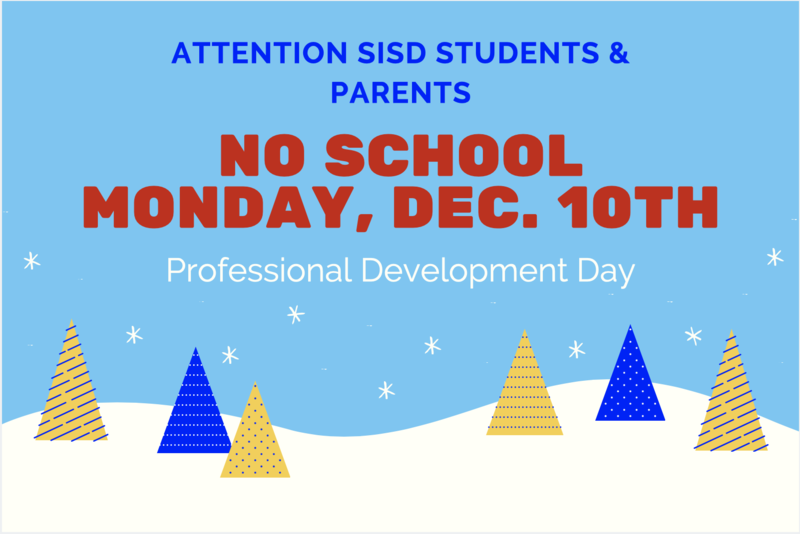No School for SISD Students on December 10th. Featured Photo