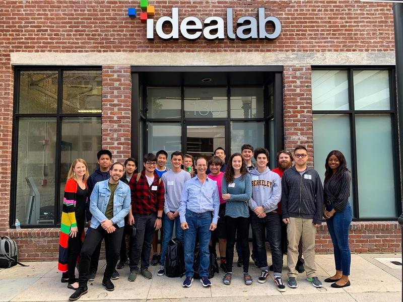 Students and teachers outside Idealab Pasadena