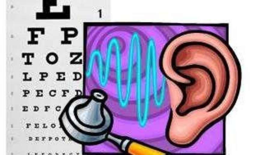 Vision chart and hearing
