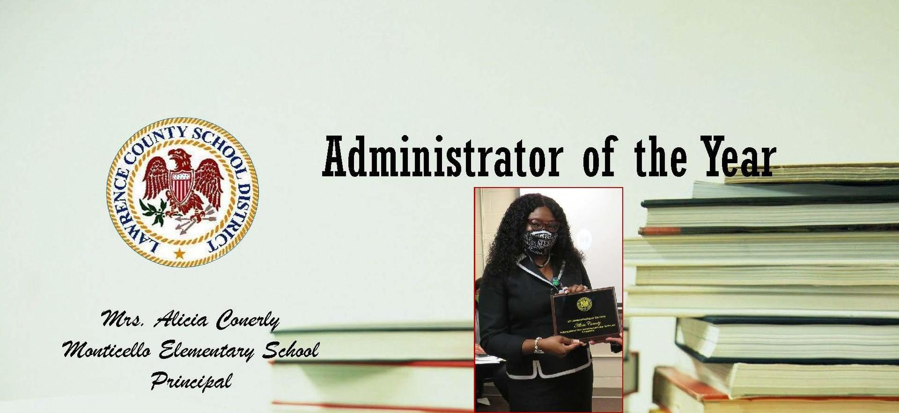 District Administrator of the Year 2020- Mrs. Alicia Conerly