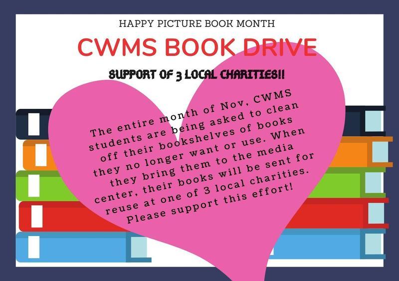 CWMS Book Drive thru Nov Thumbnail Image