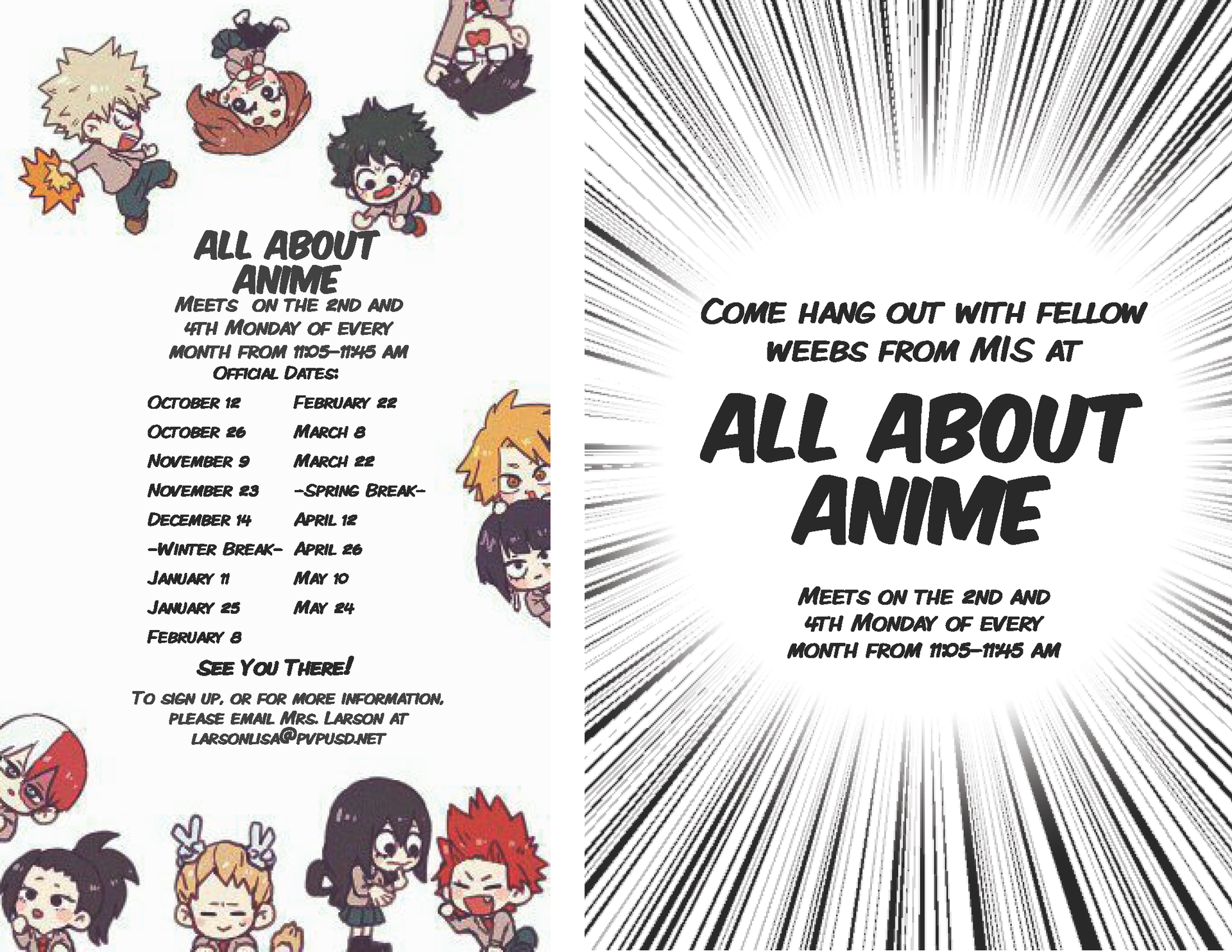 All About Anime Flier