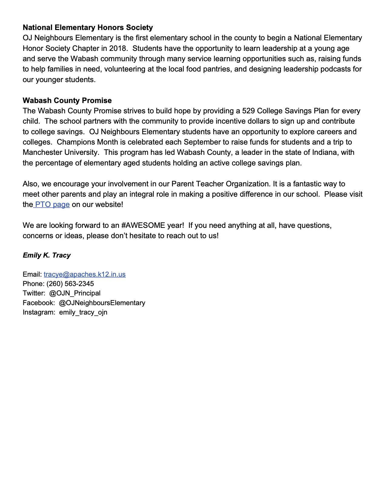 OJN Principal message page 2