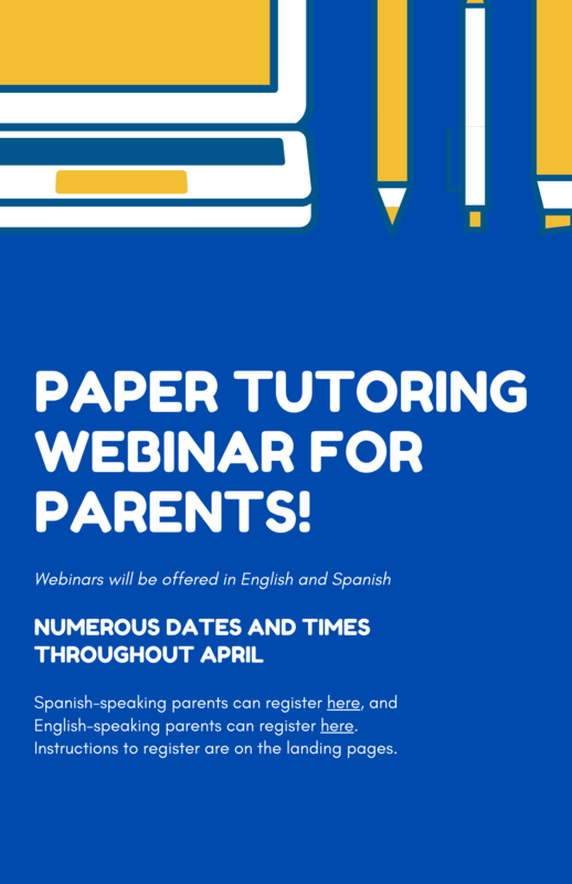 Paper Webinar for Parents
