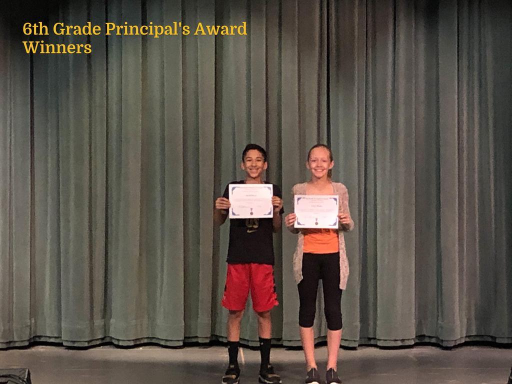 6th Grade Principal's Award