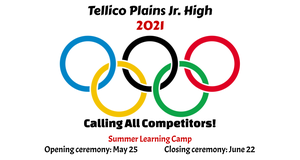 olympic rings TPJHS summer learning camp logo