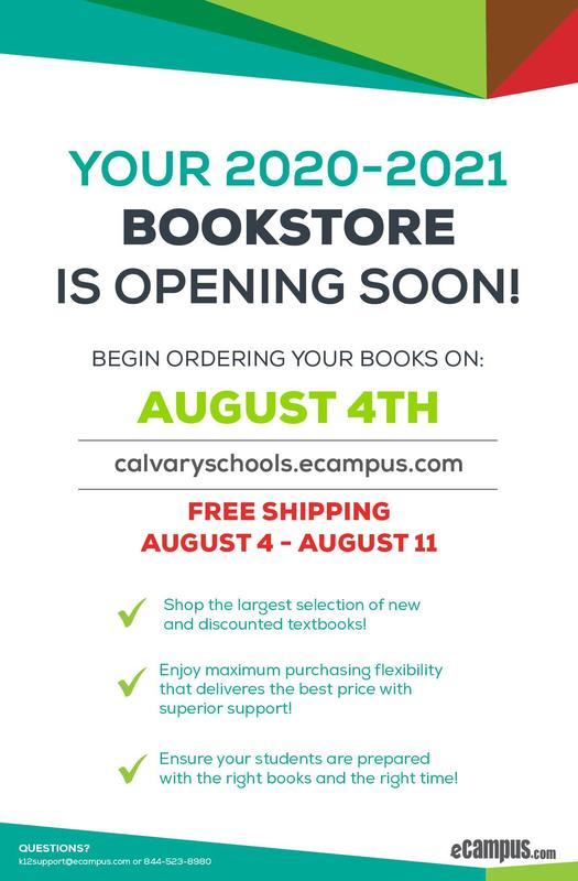 Your 2020-2021 Bookstore is Opening SOON! Featured Photo