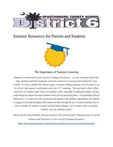 Summer Resources Flyer