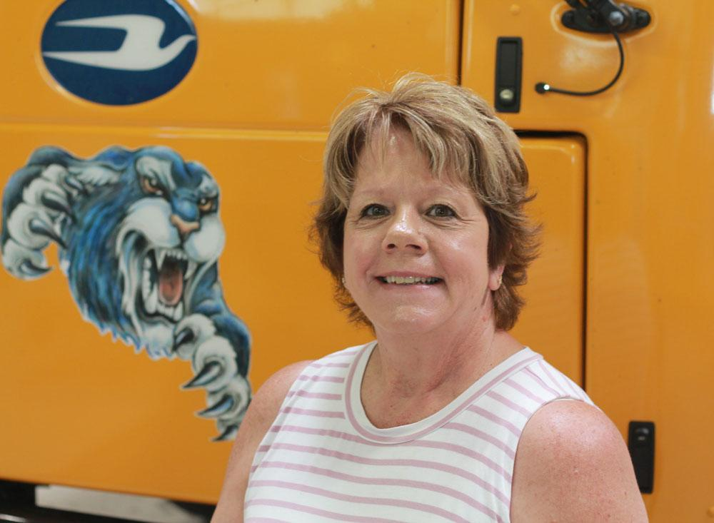 Image of bus driver Pam Dahl