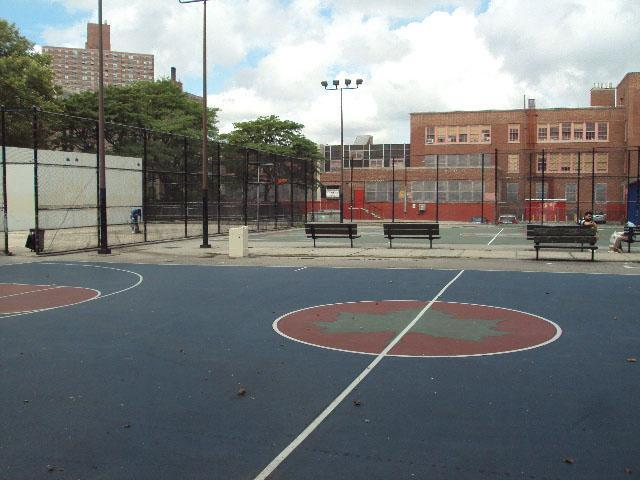handball courts at Jacob H Schiff park