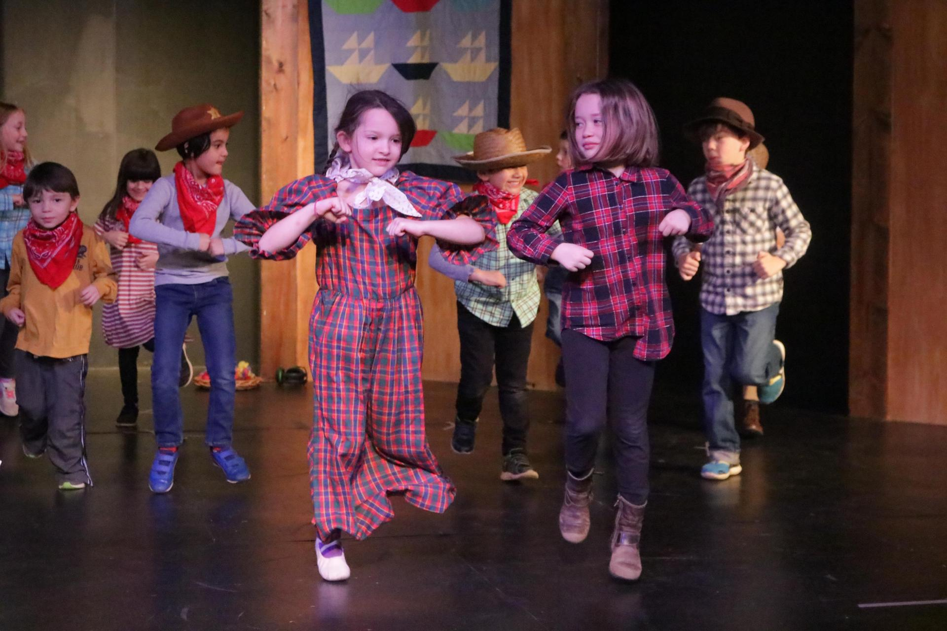 Then and Now play performance by the first grade