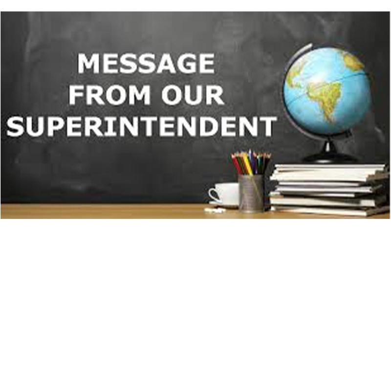 Superintendents Message