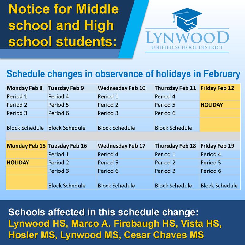 Schedule Change Featured Photo