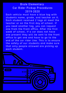 Brule elementary car rider pickup procedures.png