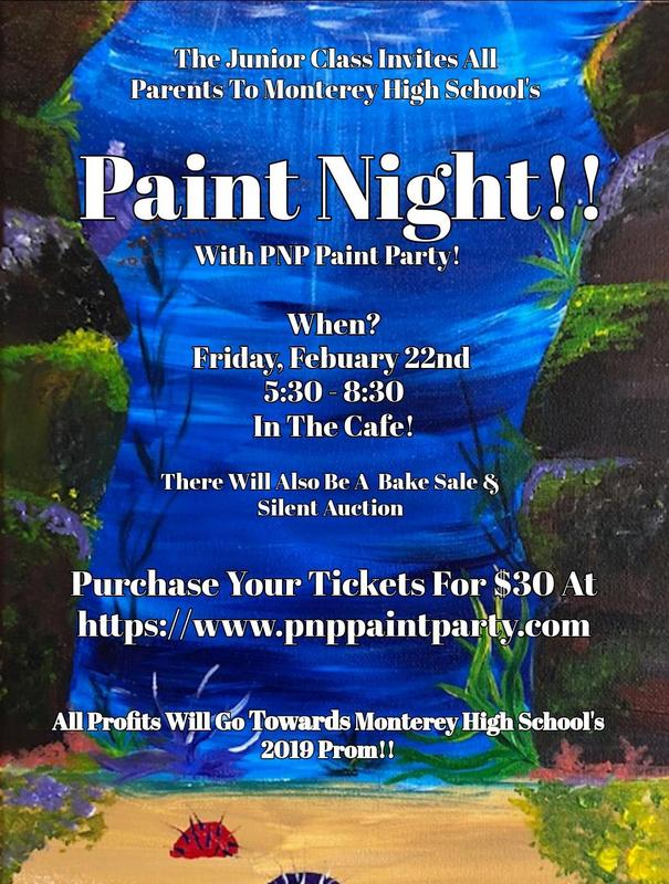 Paint Night Prom Fundraiser
