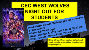 CECFC West Movie Night Avengers