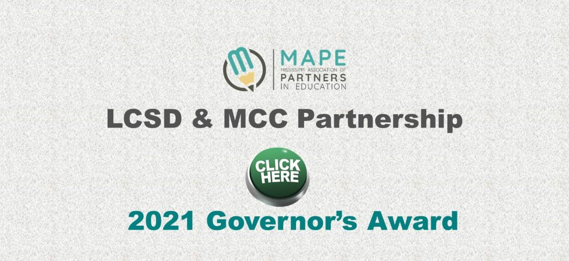 LCSD/MCC Governor's Award Graphic
