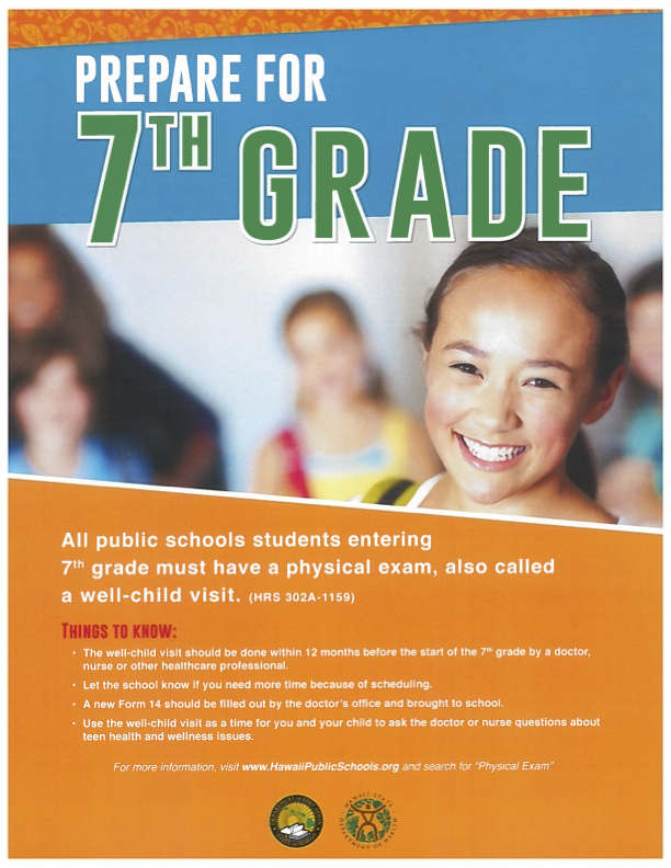 REMINDER: Physicals Required for Incoming 7th Graders Thumbnail Image
