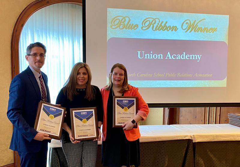 Pictured (l to r): NCSPRA Treasurer Ken Derksen, UA Communications Director Jennifer Sutton Smith, NCSPRA Secretary Randi Davis.
