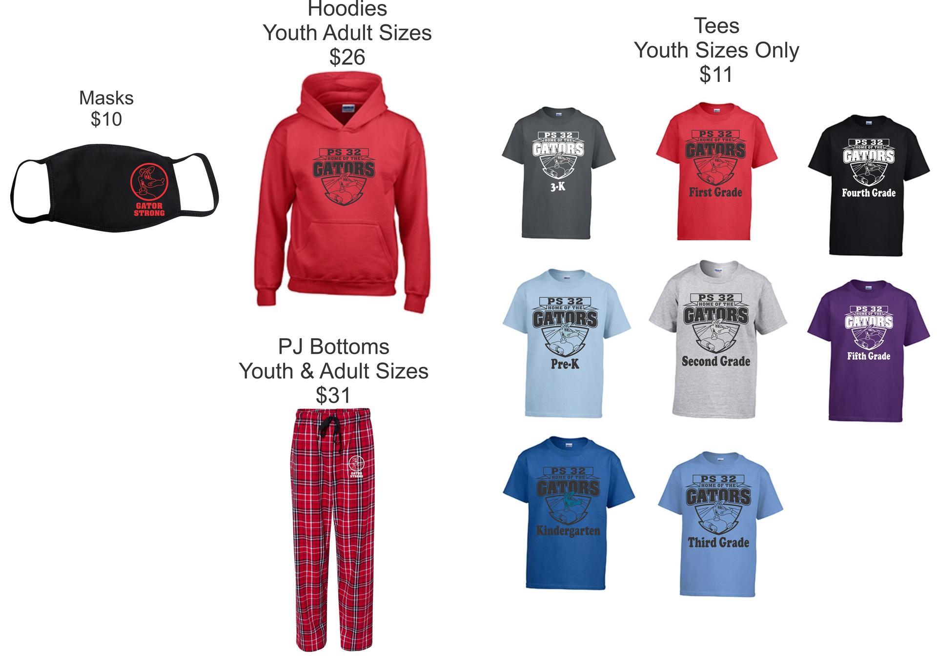 PS32 TShirts, Hoodies & Pants