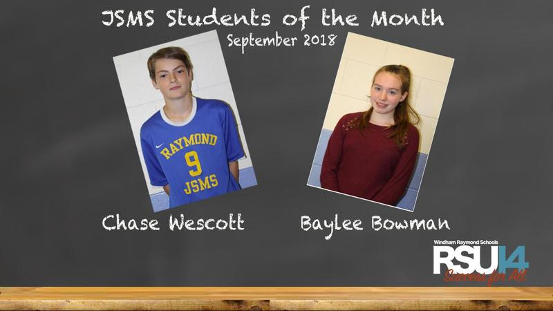 JSMS September Students of the Month