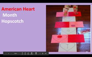American heart month hopscotch