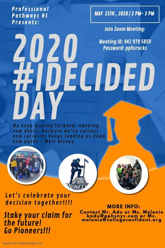 2020 I Decided Day Join us via zoom