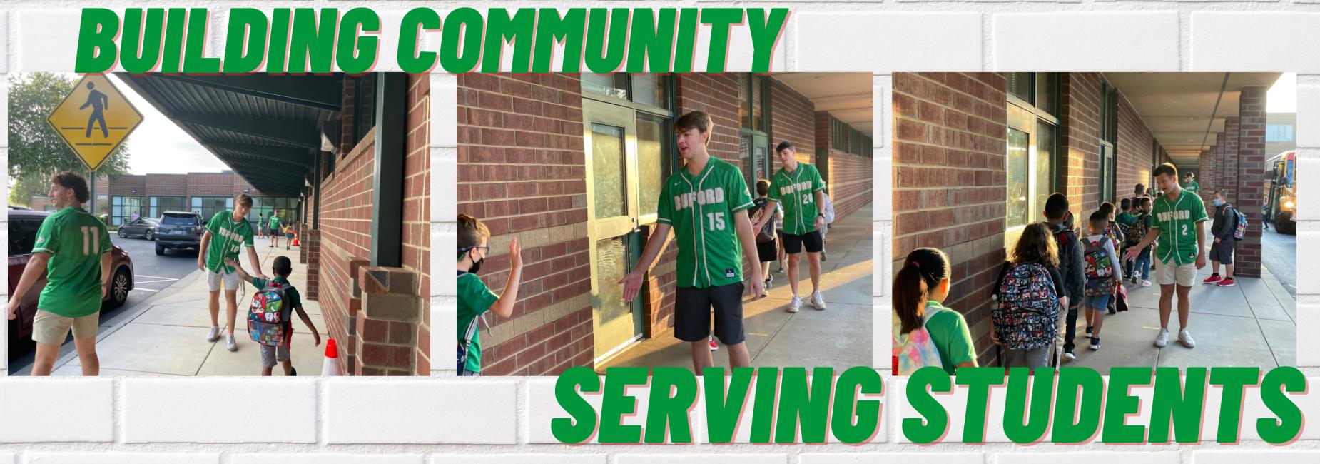 Baseball Players Serving Students