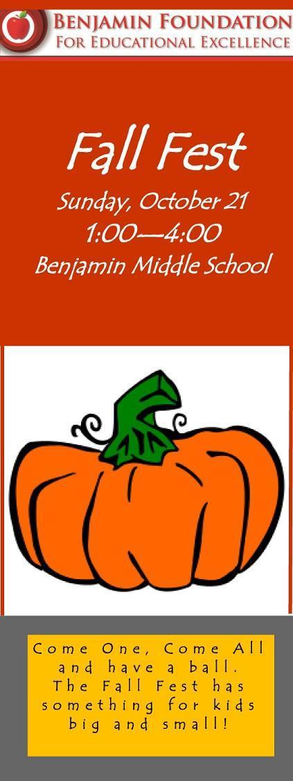 Benjamin Foundation Fall Fest October 21 2018