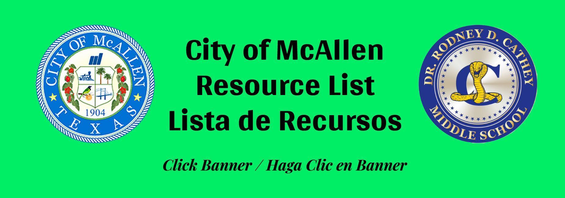 City of McAllen Resource List