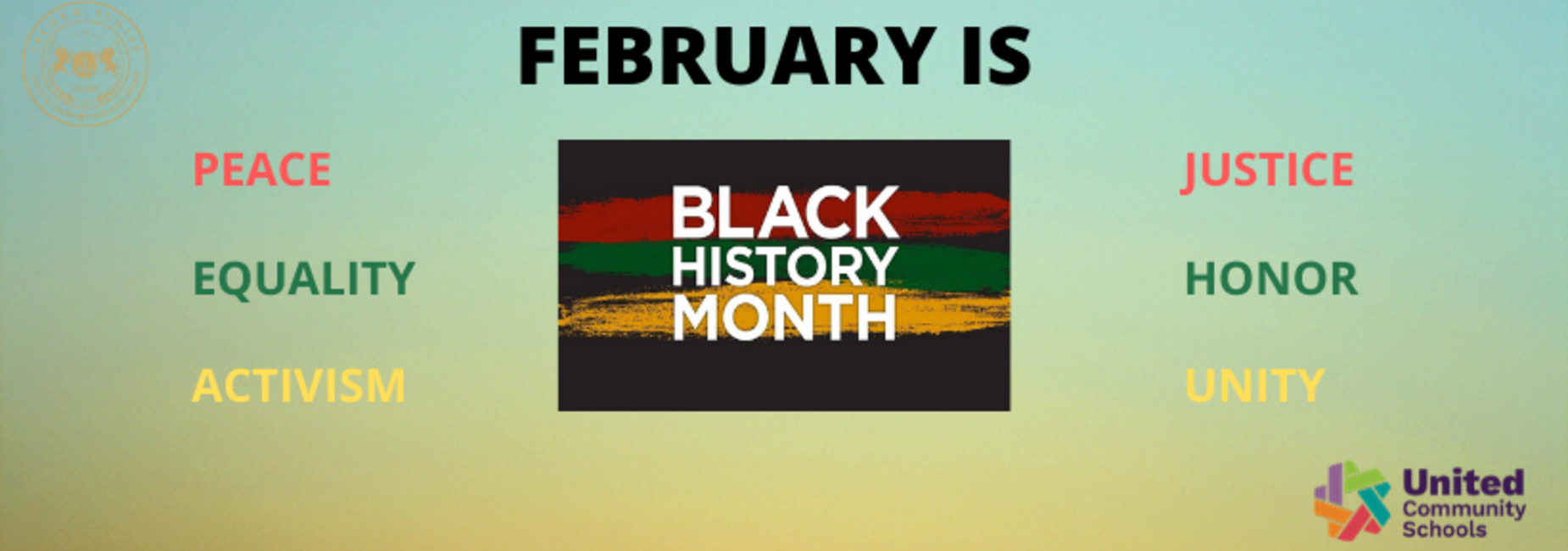 Black History Month Banner in English