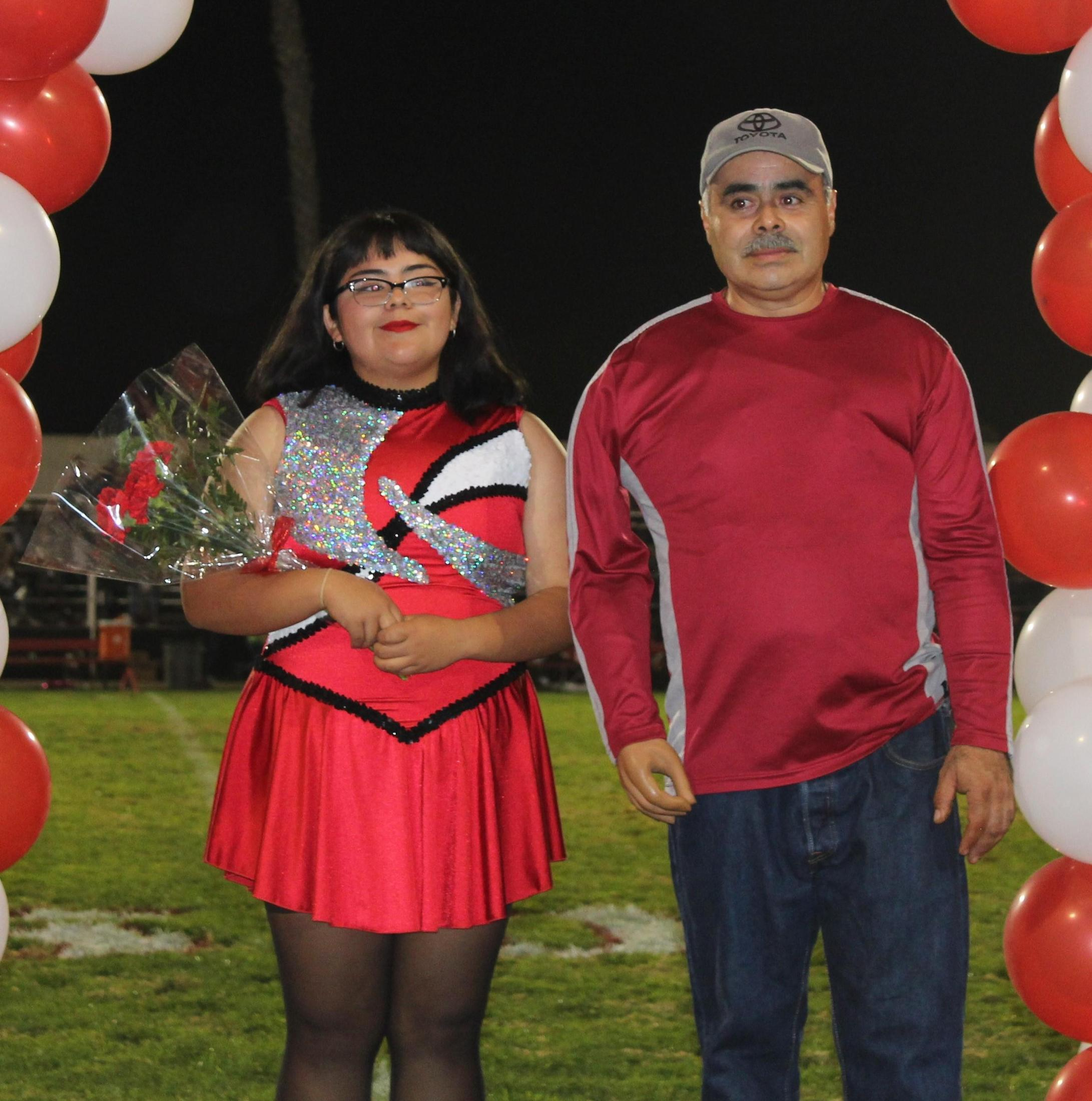 Jessica Morales and her supporters at Senior Night.