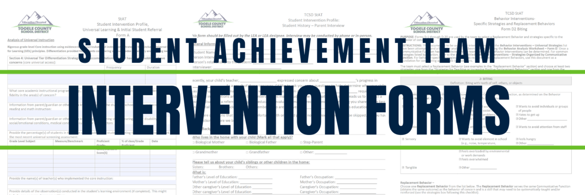 StAT Intervention Forms Graphic