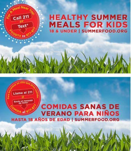 Free Summer Meals for Families