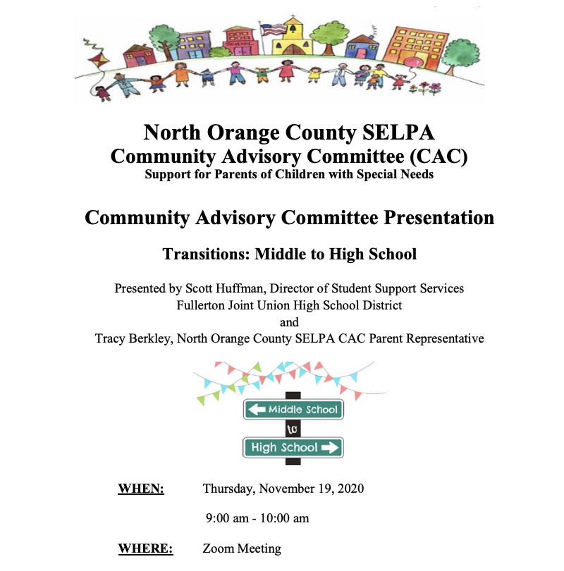 SELPA CAC Flyer