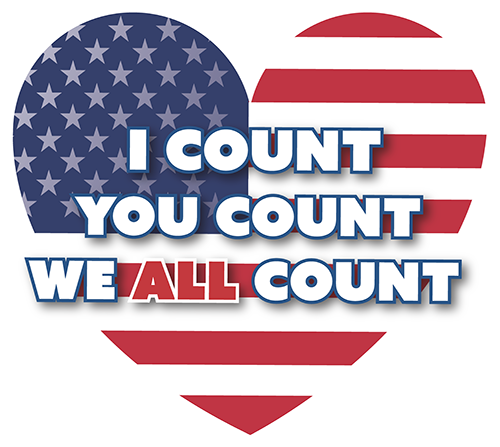 I Count You Count We ALL Count Logo