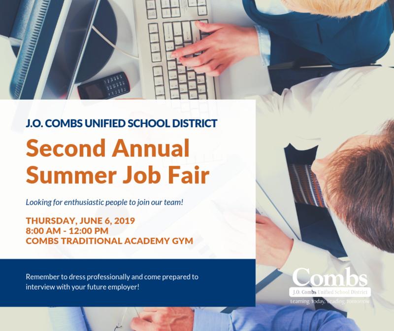 Second Annual Summer Job Fair Graphic