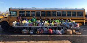 Special thanks to our Goshen bus drivers, the entire transportation department and all those that donated to the Stuff the Bus Campaign