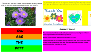 4 kindness cards collage