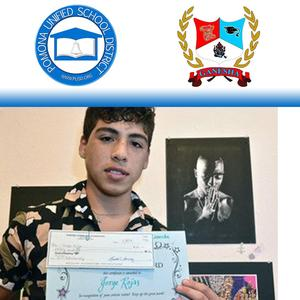 Pomona Unified would like to congratulate Jorge Rojas from Ganesha High School for his award-winning artwork. Jorge was one of four Sarah Ross winners who was acknowledged on May 11th at the dA Center for the Arts.