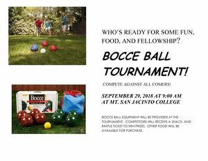 SJ Rotary Bocce Ball Tournament Flyer