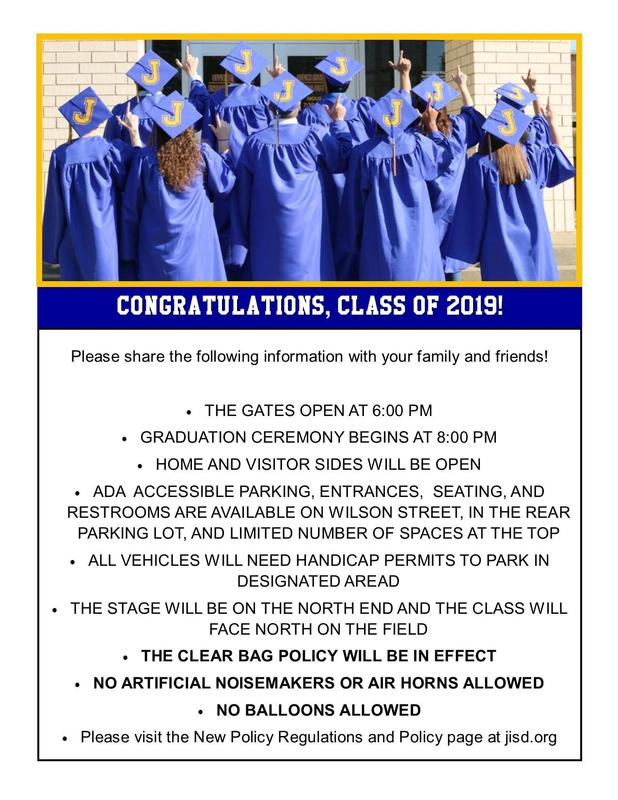 graduation information with a picture of graduates
