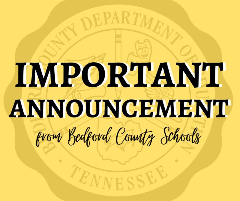 SCHS announcement